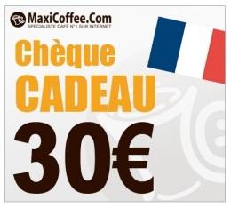 Ch�que Cadeau Maxicoffee 30€