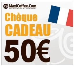 Ch�que Cadeau Maxicoffee 50�