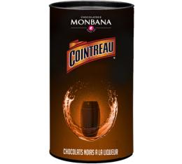 Boîte de 25 chocolats noirs à la liqueur de Cointreau - Monbana