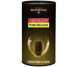 Bo�te de 25 chocolats noirs � la liqueur de Poire Williams L'H�ritier Guyot - Monbana