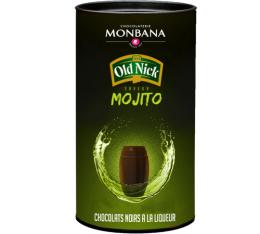 Bo�te de 25 chocolats noirs � la liqueur Saveur Mojito Old Nick - Monbana