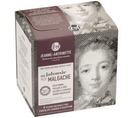 Chocolat en poudre noir bio Jalousie Malgache - 6x40g - Jeanne-Antoinette