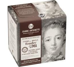 Chocolat en poudre noir bio Coup de foudre à Lima - 6x40g - Jeanne-Antoinette
