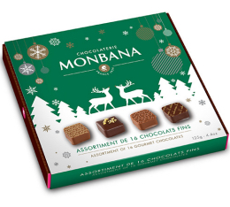 Assortiment de 16 chocolats fins fourr�s au pralin� - Monbana