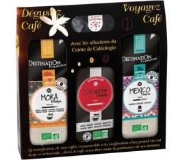 Coffret D�couverte Destination - Caf� moulu bio pour filtre 3x250g