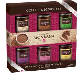 Coffret d�couverte : 6 chocolats en poudre aromatis�s - Monbana