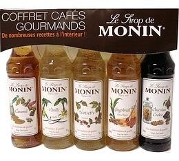 Coffret caf�s gourmands - 5 mignonettes de sirop - Monin