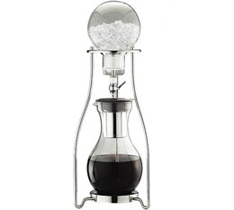Cafeti�re Tiamo extraction � froid en verre/inox