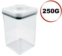 Boite � caf� avec vide d'air POP Oxo - 250g/0.9L en plastique transparent