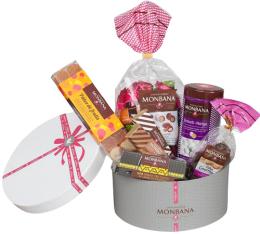 Corbeille Chapeau - Assortiments chocolats - Monbana