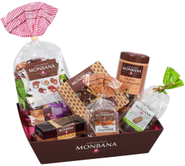 Corbeille Gourmande - Assortiments chocolats - Monbana
