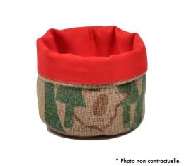Corbeille en Toile de Jute et doublure coton rouge - S - Lilokawa