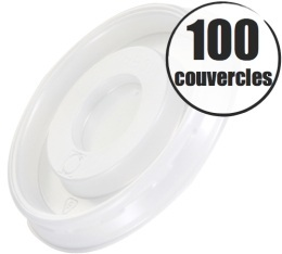 100 couvercles pour gobelets cartonnés 10cl Lavazza