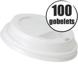 100 couvercles pour gobelets cartonn�s 27cl Lavazza