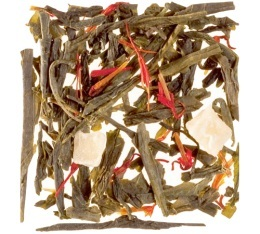 Th� vert en vrac Macaron Cassis Violette  - 100gr - Dammann