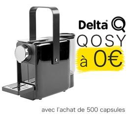 500 Capsules DeltaQ + Machine Delta Qosy Gratuite