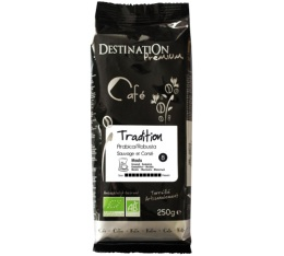Caf� moulu Bio Tradition n�8 Arabica/Robusta Destination x 250g