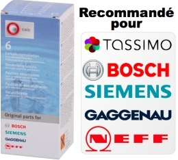 D�tartrant Bosch / Tassimo / Siemens / Neff