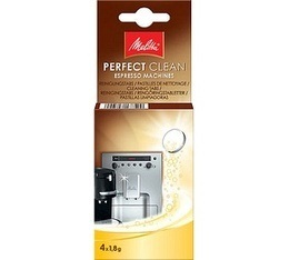 Pastilles nettoyantes Caffeo Melitta 'Perfect Clean' - 4x1.8g