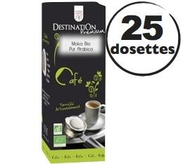 Dosettes caf� bio Moka Ethiopie x 25 dosettes ESE