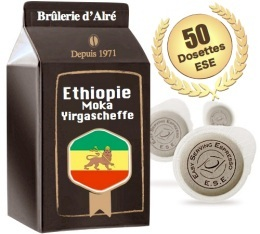 Dosettes ESE Moka Ethiopie Yrgacheffe x 50 - Brûlerie d'Alré