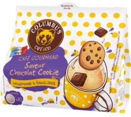 Dosettes souples Saveur Chocolat Cookie x10 - Columbus Caf� & Co