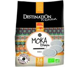 Caf� dosettes souples Bio Moka d'Ethiopie x 36