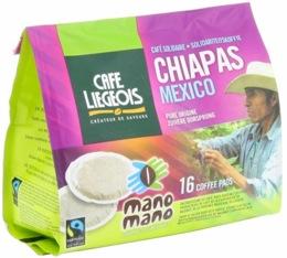 Café dosettes souples Chiapas Mexico x16 - Café Liegeois