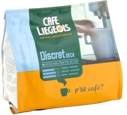 Caf� dosettes souples Discret Deca x18 - Caf� Liegeois