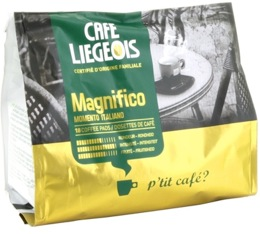 Caf� dosettes souples Magnifico x18 - Caf� Liegeois