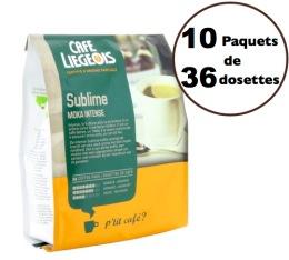 Café dosettes souples Sublime Moka x360 - Café Liegeois