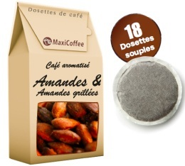 Caf� dosettes souples aromatis� amande x 18