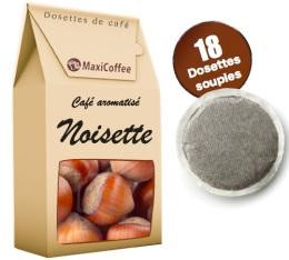 Caf� dosettes souples aromatis� noisette x 18