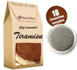 Caf� dosettes souples aromatis� Tiramisu x 18