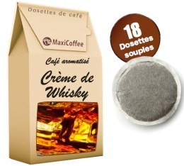 Caf� dosettes souples aromatis� Whisky x 18