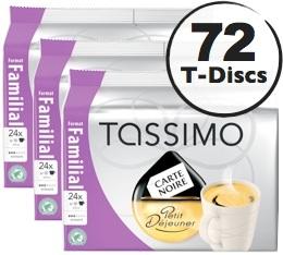 Dosette Tassimo Carte Noire Petit D�jeuner - 24 T-Discs - Lot de 3 (soit 72 T-Discs)