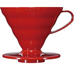 Dripper Hario V60 VDC-02 conique rouge 4 tasses
