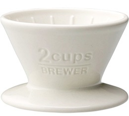 Dripper Kinto SCS-02-BR conique blanc 2 tasses