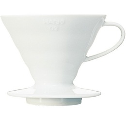 Dripper Hario V60 VDC-01 conique blanc 2 tasses