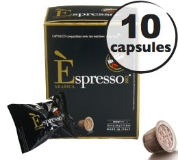 Capsule Espresso Arabica Caffè Vergnano x10 pour Nespresso