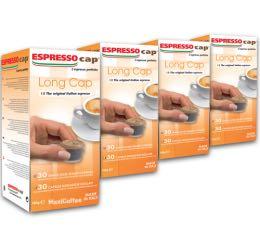 120 x Capsules Long Cap pour Cubo Espresso Cap