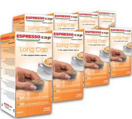 240 x Capsules Long Cap pour Cubo Espresso Cap