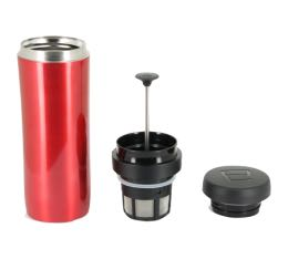 Mug travel press rouge avec filtre à café - 35cl - Espro