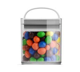 Boîte conservatrice en plastique avec vide d'air - EVAK - S basse - 420 mL