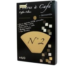 Filtre à café Destination n°2 biodégradable x40