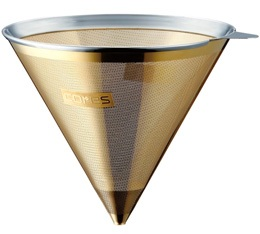Filtre conique permanent en inox/or Cores pour Chemex 6-8 tasses