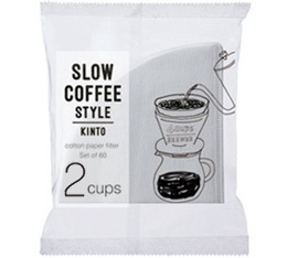 Filtre conique 2 tasses blanc Kinto SCS-02-CP-60 x 100