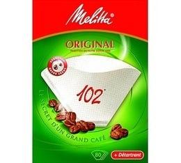 Option Melitta : Filtres Original Melitta taille 102 x 80 + détartrant