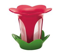 Filtre � th� fleur avec soucoupe grenadine et vert basil - Zak!designs