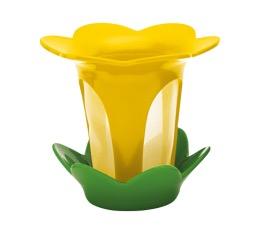 Filtre � th� fleur avec soucoupe jaune et vert basil - Zak!designs